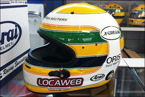 Шлем Баррикелло на Гран При Бразилии 2011